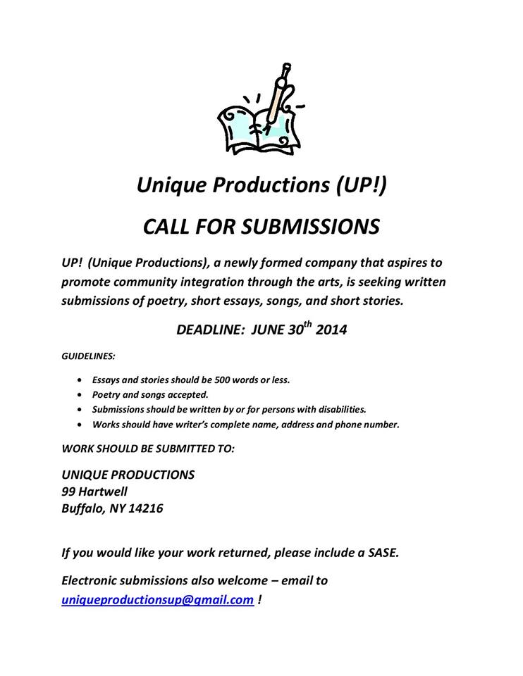 Call for Submissions - All Other Works