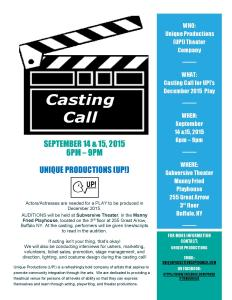 Casting Call July 2015