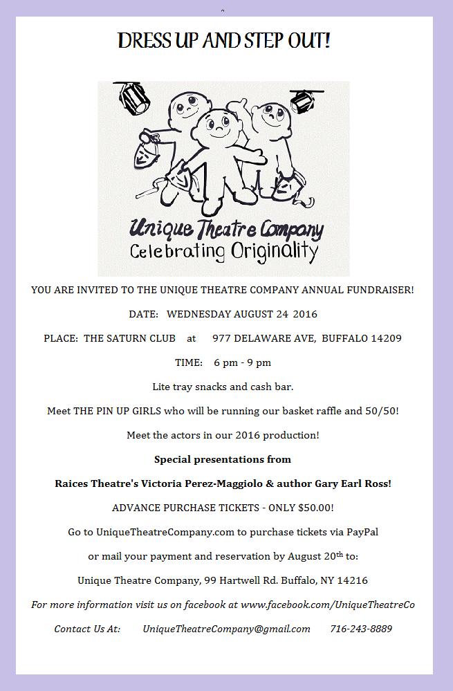 2016 fundraiser poster